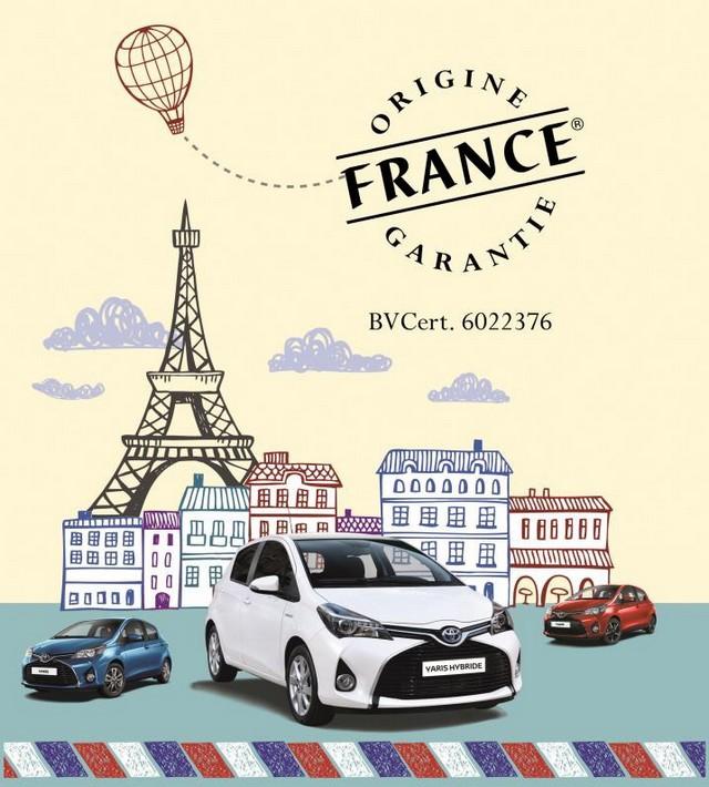 "La Yaris ""Made in Valenciennes"" obtient le label Origine France Garantie pour la 4e année consécutive 247930OrigineFranceGarantie"