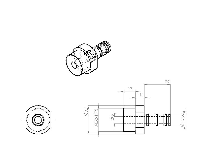 Fabrication d'un raccord pour ma pompe à lubrifiant 248873raccordpompelub