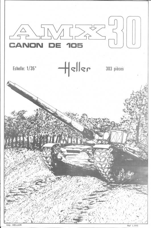 AMX 30 canon de 105 - (Réf. L810) 1/35 250958HellerAMX30105810001