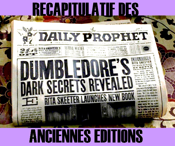 Journal - La Gazette du sorcier version Alohomora 2511806510