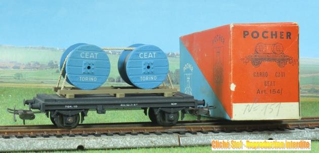 Les wagons de marchandises Pocher classement par numéros 257547Pocher154V32bobinesbleuesIMG3147