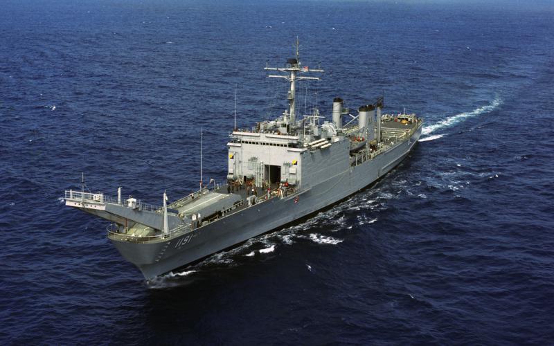 LANDING SHIP TANK (LST) CLASSE NEWPORT  260491USSRacineLST1191