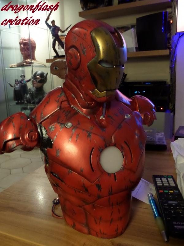 dragonflash création : buste iron man 1/2  (+-40 cm de haut) le final 2628685755