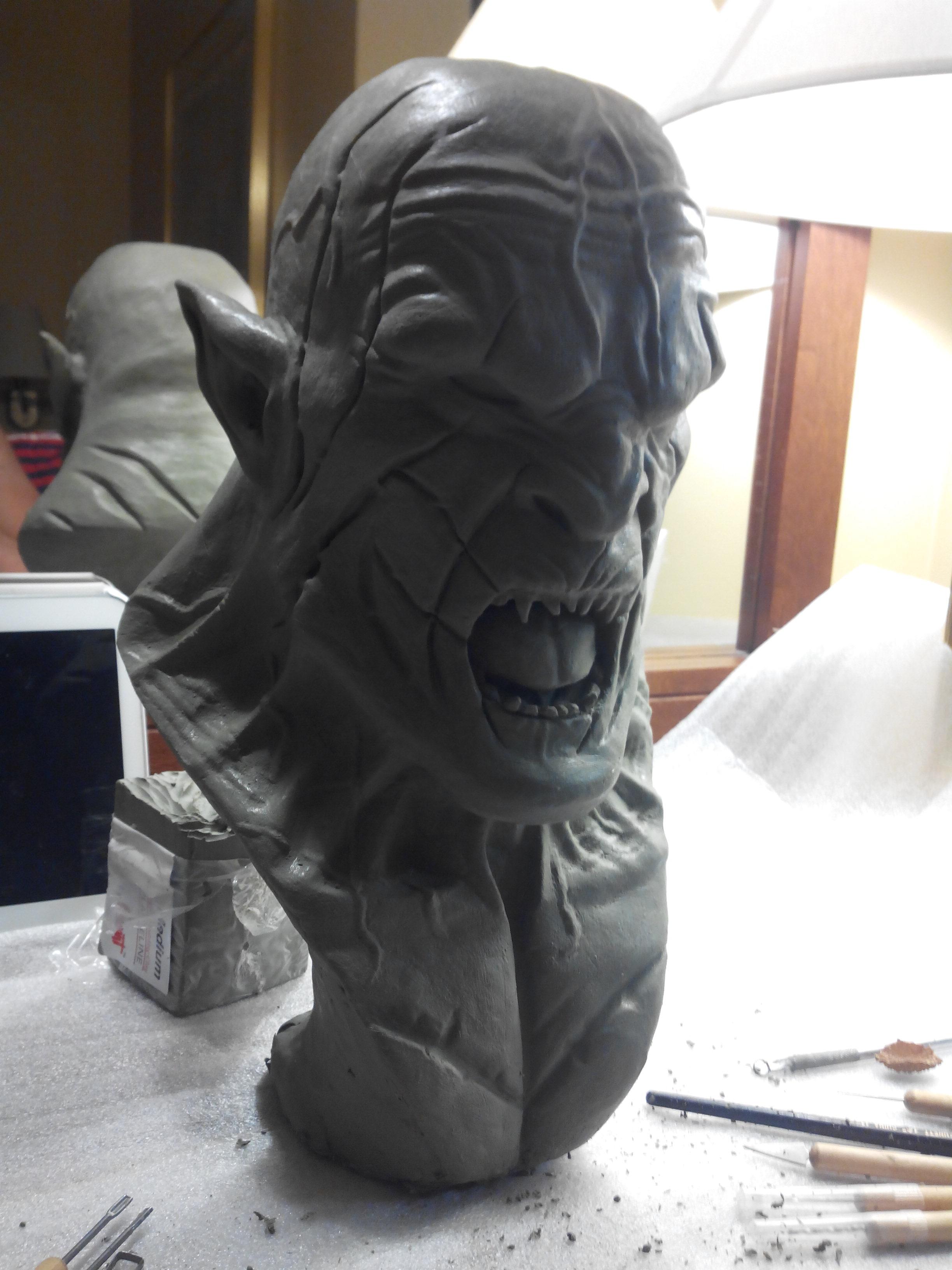 Azog le profanateur sculpture en argile 268497IMG20140722211034