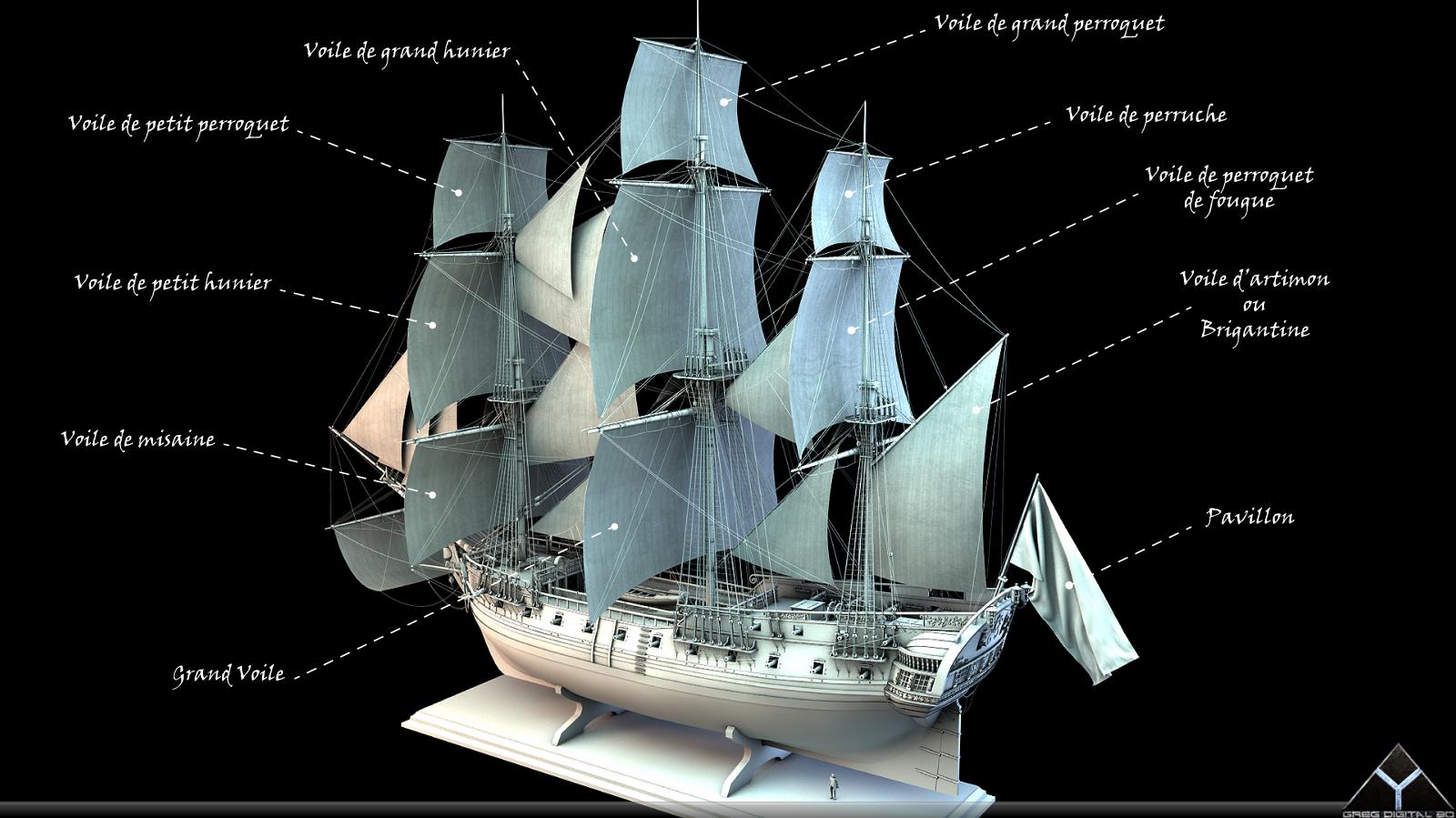 Frégate m'a première réalisation d'un navire en 3D. - Page 6 270642FrgatelightroomR16Voiles