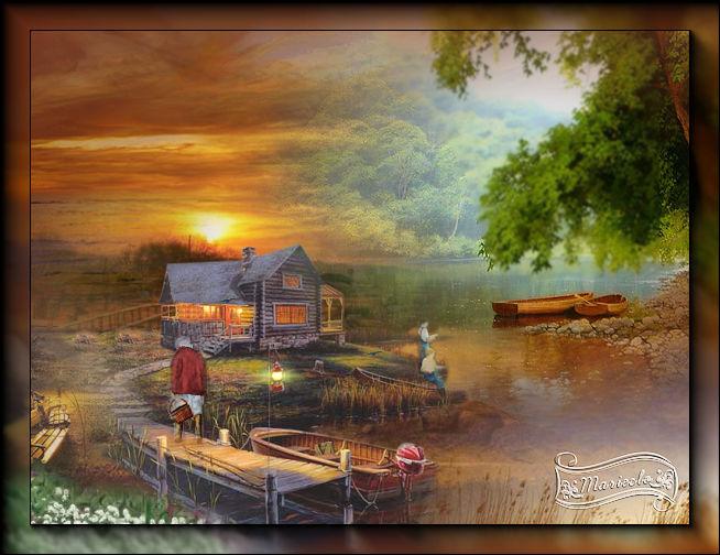Soirée d'été au chalet(PSP/Coups de pinceaux) - Page 2 272797lechaletrefait