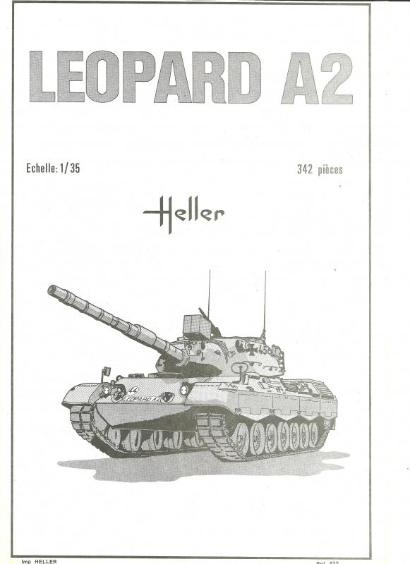 Char LEOPARD A2 - (Réf. 822) 1/35 274845HellerLopardA2822001
