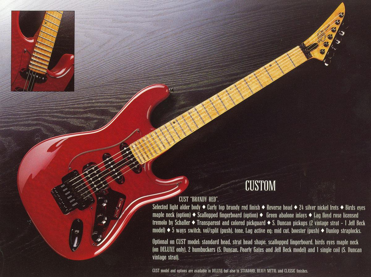 Lag Custom 1989/1990 avec ZE manche :-) ! 274987catalogue199003