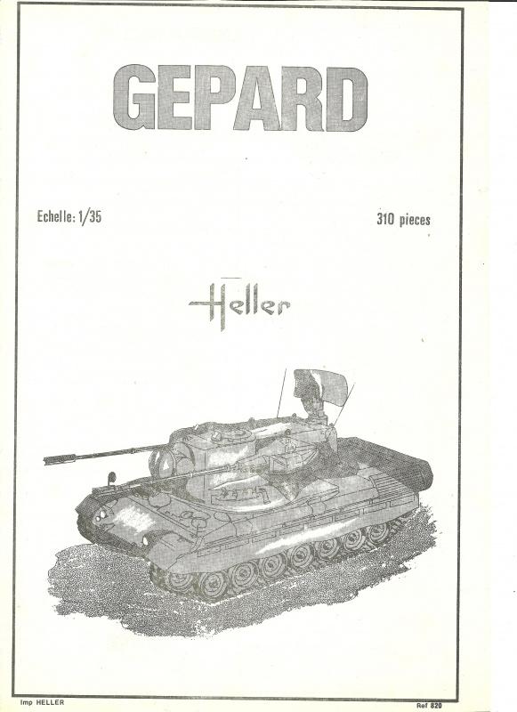 Char GEPARD  - (Réf. 820) 1/35 277079HellerGpard820001