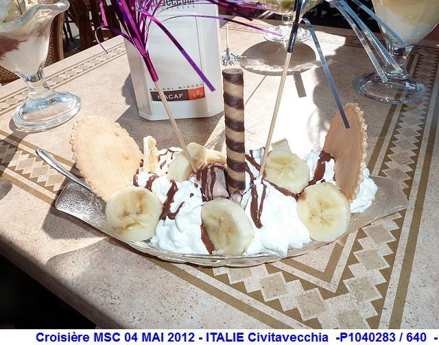 MSC Splendida Du 28 avril au 5 mai 2012 Gêne Barcelone Tunis La valette Taormine Messine Rome 279472P1040283