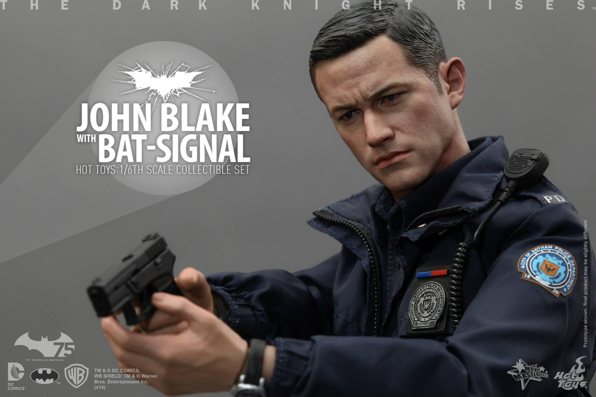 THE DARK KNIGHT RISES - Lt. JIM GORDON & JOHN BLAKE w/BATSIGNAL 280136105