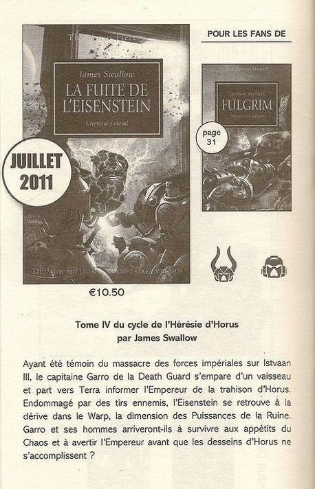 L'Hérésie d'Horus chez Black Library France 282349Lafuite
