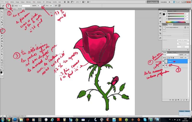 [EN PAUSE][Photoshop] Dessiner une rose 291571tape3