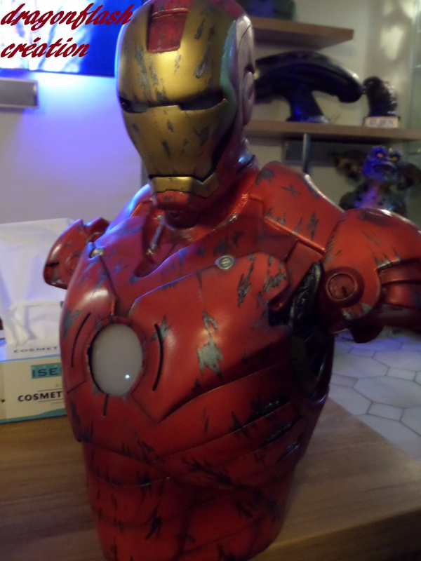 dragonflash création : buste iron man 1/2  (+-40 cm de haut) le final 2978084941