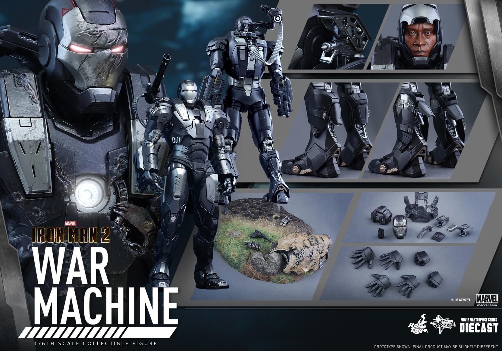 HOT TOYS - Iron Man 2 - War Machine Diecast 300060116