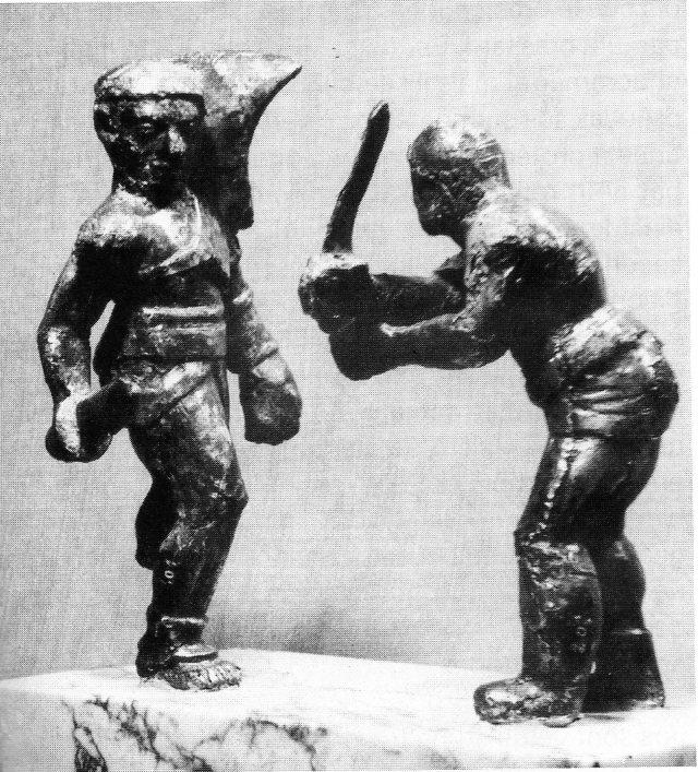 Statuettes Rétiaire / Secutor 3043162bronzesargentstrouvsensembleMuseRollinAutin