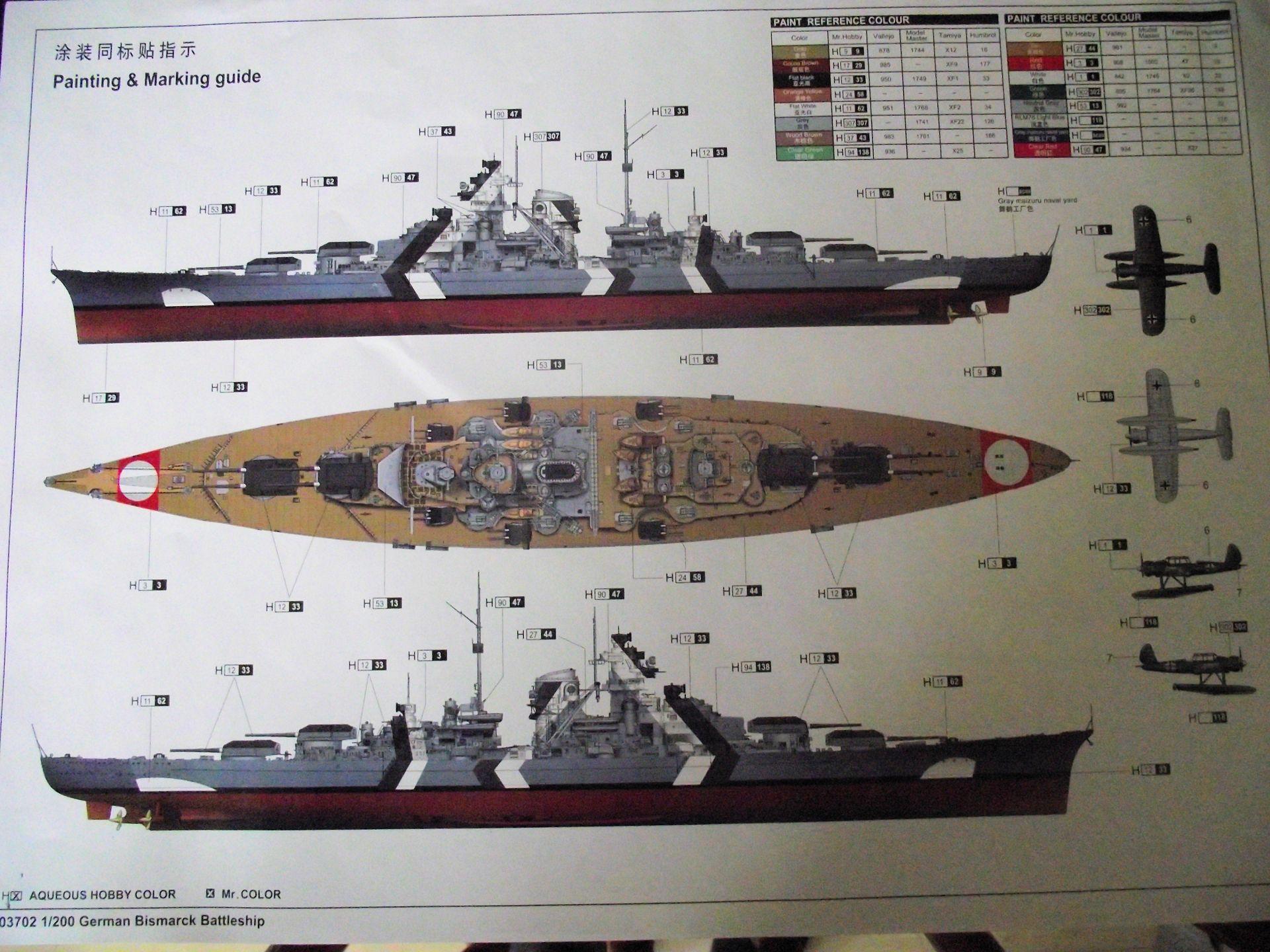 Bismarck au 1/200 Trumpetter  - Page 5 305960DSCF0824