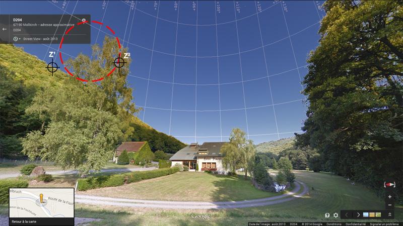 1976: le 20/07 à 21H30 22H -sphère lumineuse - Lieu dit Fackenthal (67)  - Page 2 3082803bFischhutteStreetViewIIIzoneviseurs