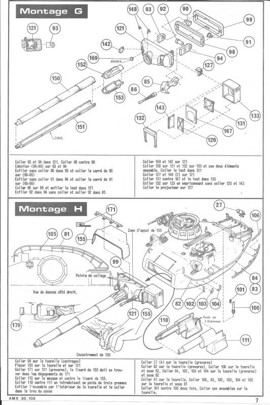 AMX 30 canon de 105 - (Réf. L810) 1/35 315801HellerAMX30105810007