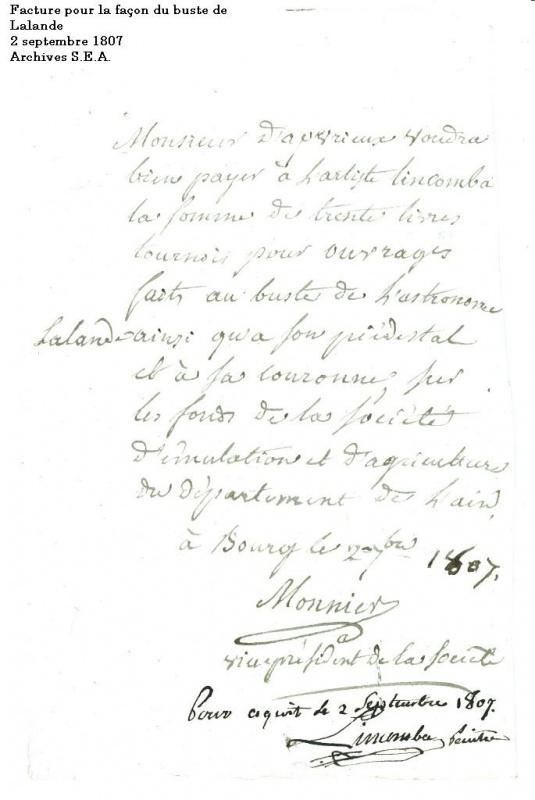 Jérôme Lalande : l'astronome des Lumières 316122bustedelalande1807