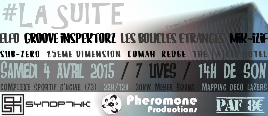 04/04/2015 - La Suite - Synopthik & Phéromone - Ugine (73) 317016FLYERFINAL