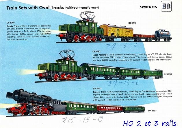 Coffrets Märklin 1936 - 1968 (rouges, noirs, verts ou bleus) 317968Marklincatalogue1955DA800R