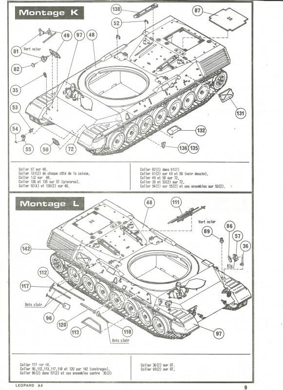 Char LEOPARD A4 - (Réf. 823) 1/35 321601HellerLopardA4823009