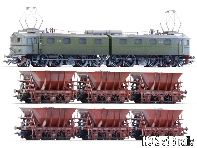 Les machines D/Da/Dm/Dm3 (base 1C1) des chemins de fer suèdois (SJ) 325020mrklin26801verschneiterErzzugEl12derNSBSJ
