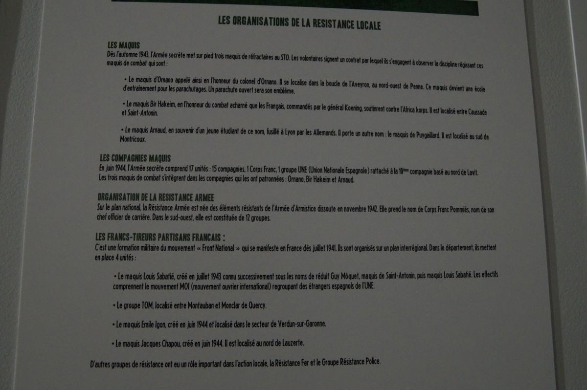 [ Histoire et histoires ] Musée de la résistance et du combattant à Montauban 326020DSC07572