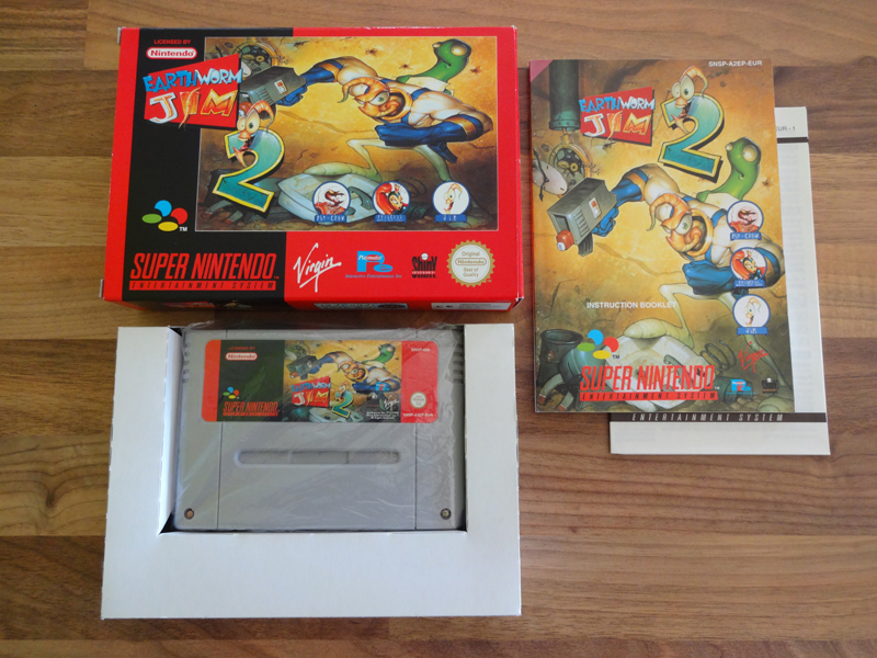 Prupru's Collection ! 100% Super Nintendo et 200% Super Comboy !! - Page 16 326938EarthwormJim2EUR