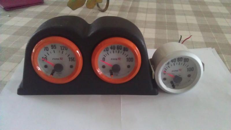 Installation Manomètres pression huile & température d'eau 327037IMAG1218