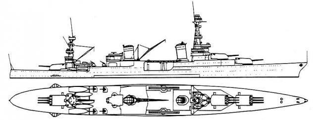 USN CROISEUR LOURD USS WICHITA 329354USSHoustonpourCT