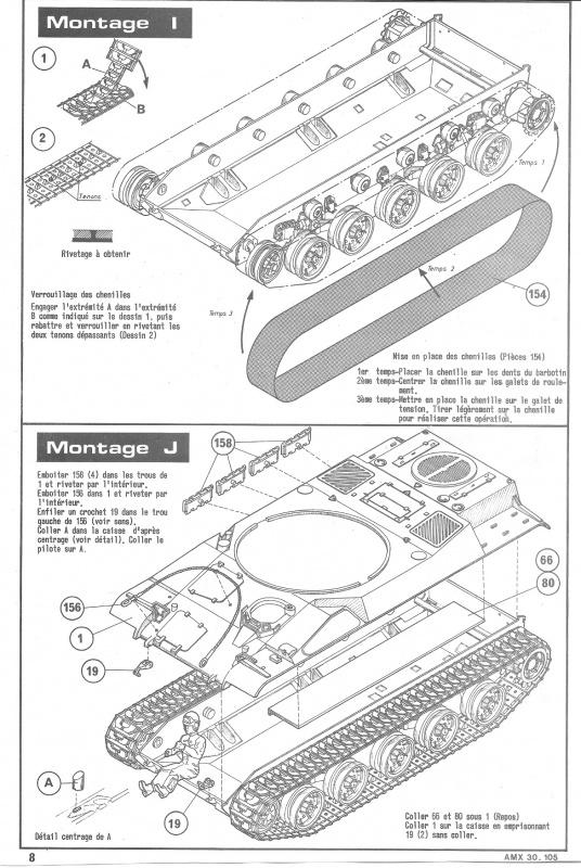 AMX 30 canon de 105 - (Réf. L810) 1/35 331627HellerAMX30105810008