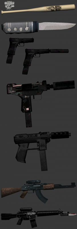 Pack Armes Low 338350render