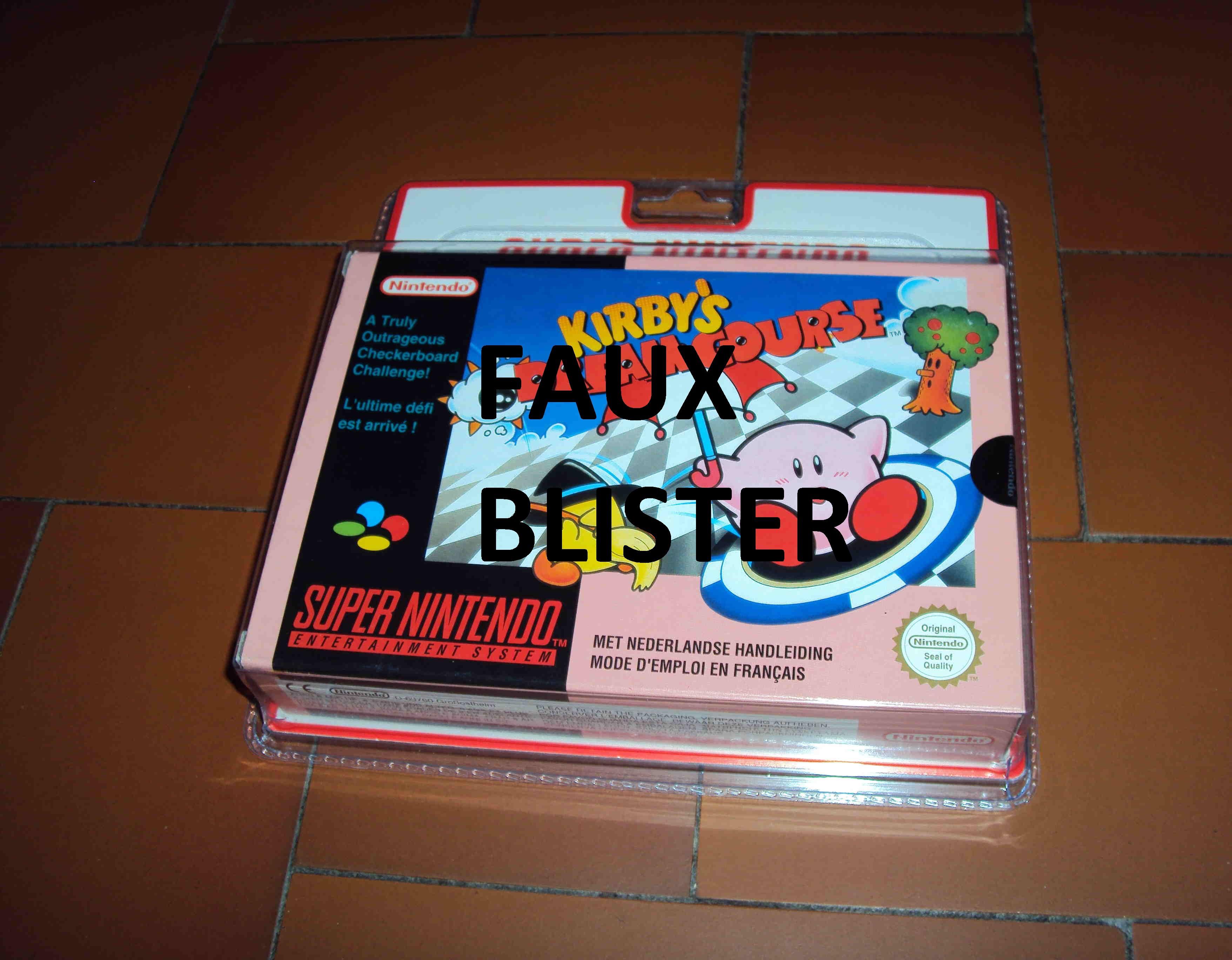 ALERTE A LA VIGILANCE --- FAUX BLISTER SNES 338589KDC2