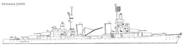 USN CROISEUR LOURD USS WICHITA 339905USSPensacolaCT