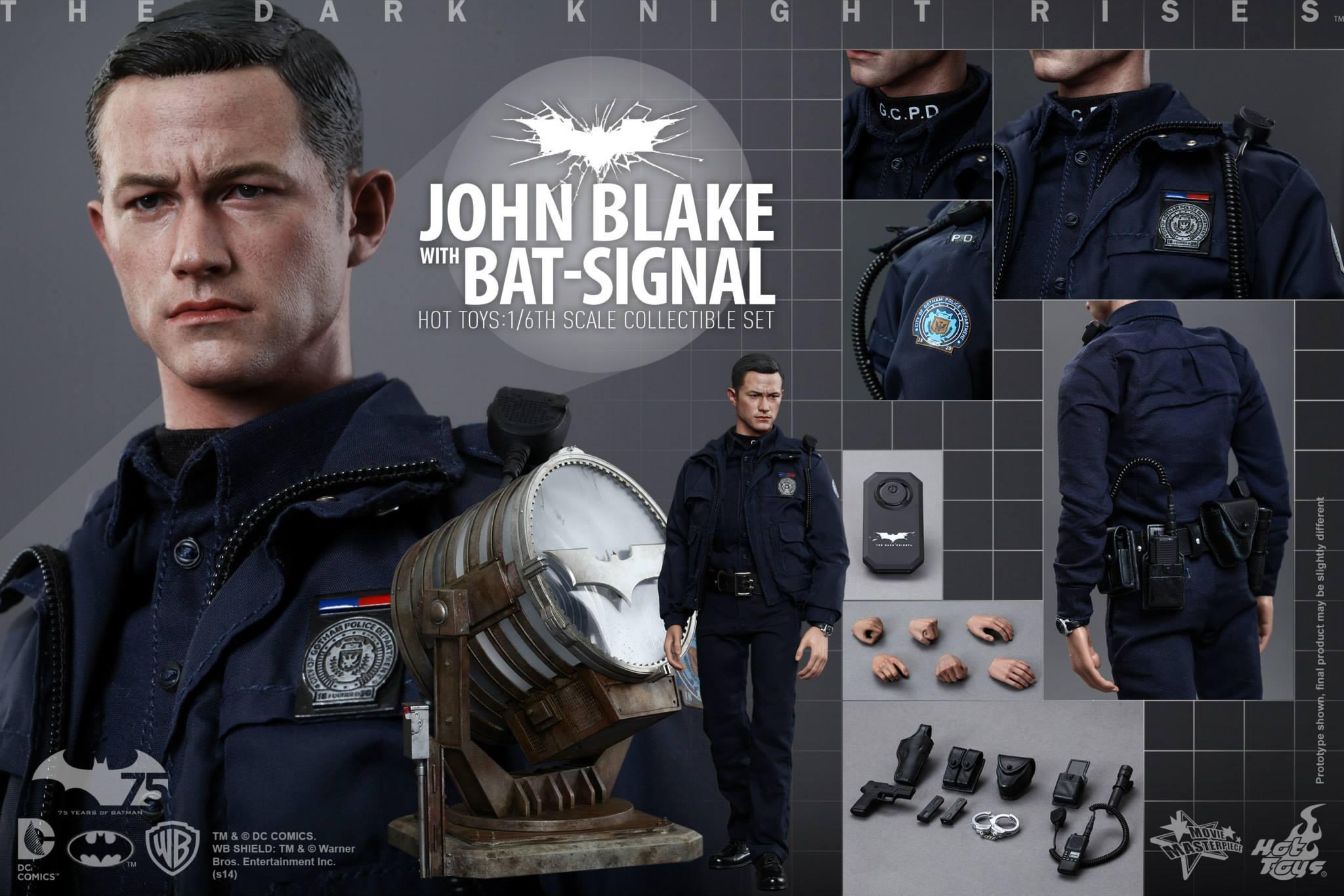 THE DARK KNIGHT RISES - Lt. JIM GORDON & JOHN BLAKE w/BATSIGNAL 345400109
