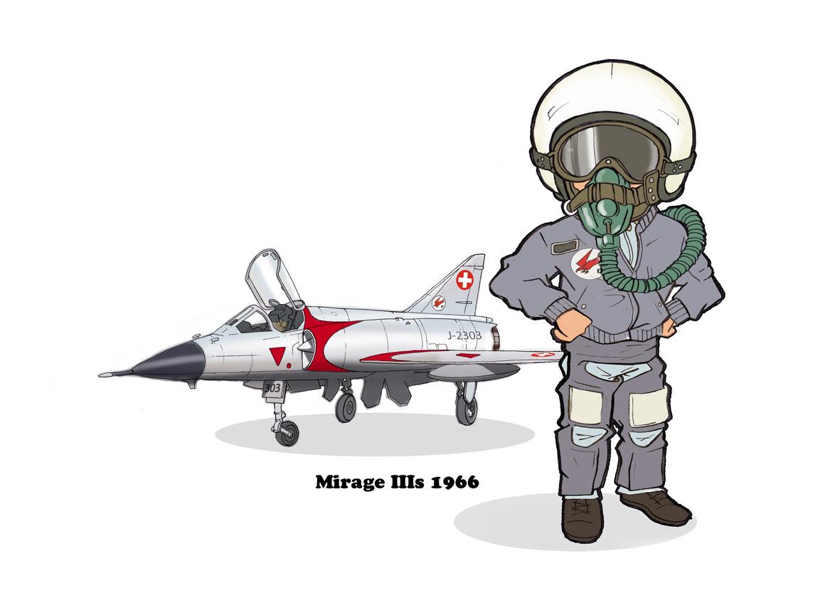 Mirage IIIc et son pilote  345748Mirage
