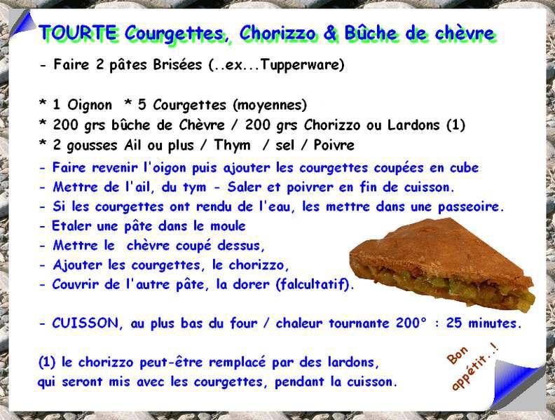 TOURTE, Courgettes, Chorizzo et Bûche de Chèvre 349766recetteEncadre