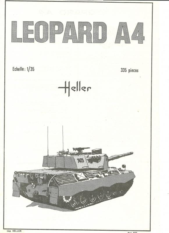Char LEOPARD A4 - (Réf. 823) 1/35 353957HellerLopardA4823001