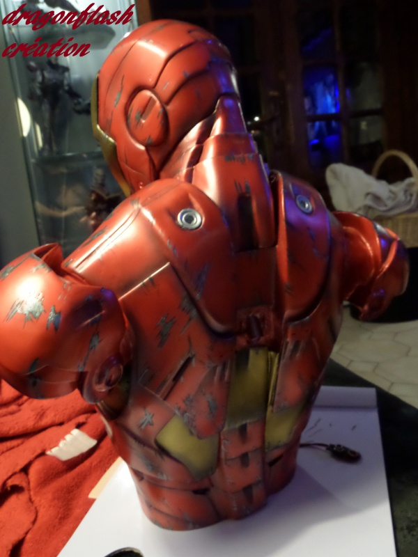 dragonflash création : buste iron man 1/2  (+-40 cm de haut) le final 3557885642