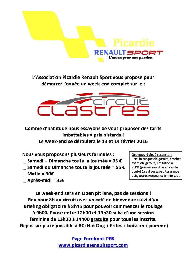 P.R.S Day a Clastres le 13 et 14 Fevrier 356558sortieclastres2016