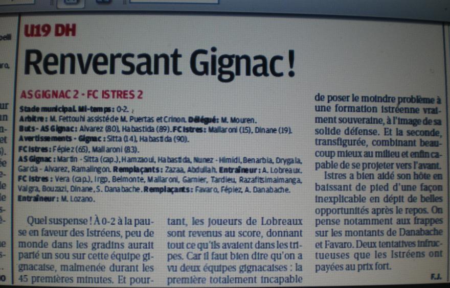 AS GIGNAC LA NERTHE //  DHR MEDITERRANEE  PROVENCE  357057IMGP4062