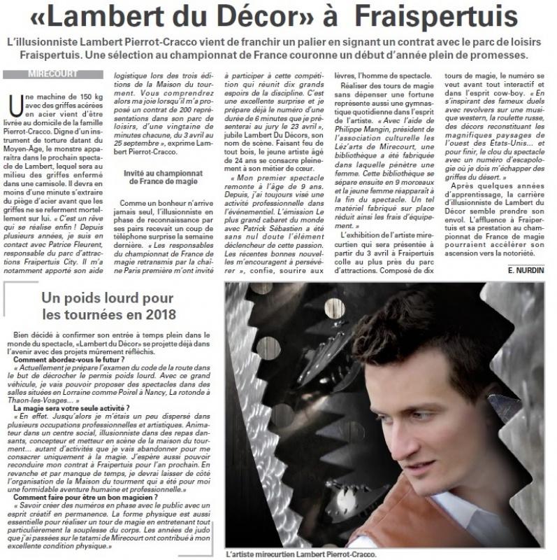 Fraispertuis sur Vosges Matin 359062LambertduDcorFraispertuis