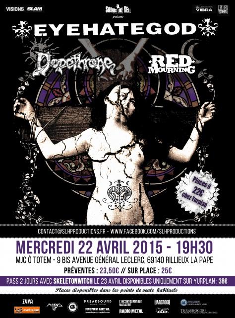 22.04 EYEHATEGOD + DOPETHRONE + RED MOURNING @ Lyon (MJC Ô Totem) 361228EyehategodLyon
