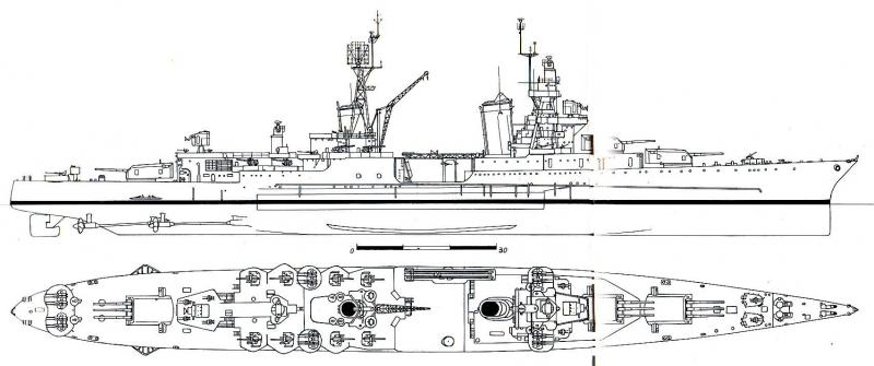 USN CROISEUR LOURD USS WICHITA 361611Indianapolis19452