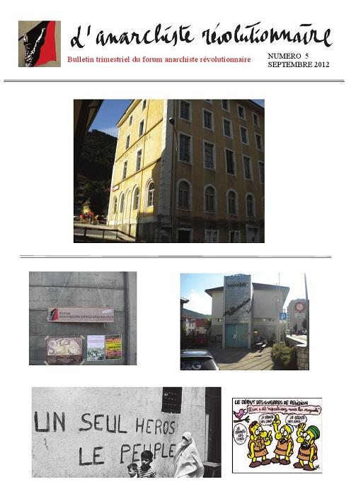Bulletin L'Anarchiste Révolutionnaire  365478AR5grand