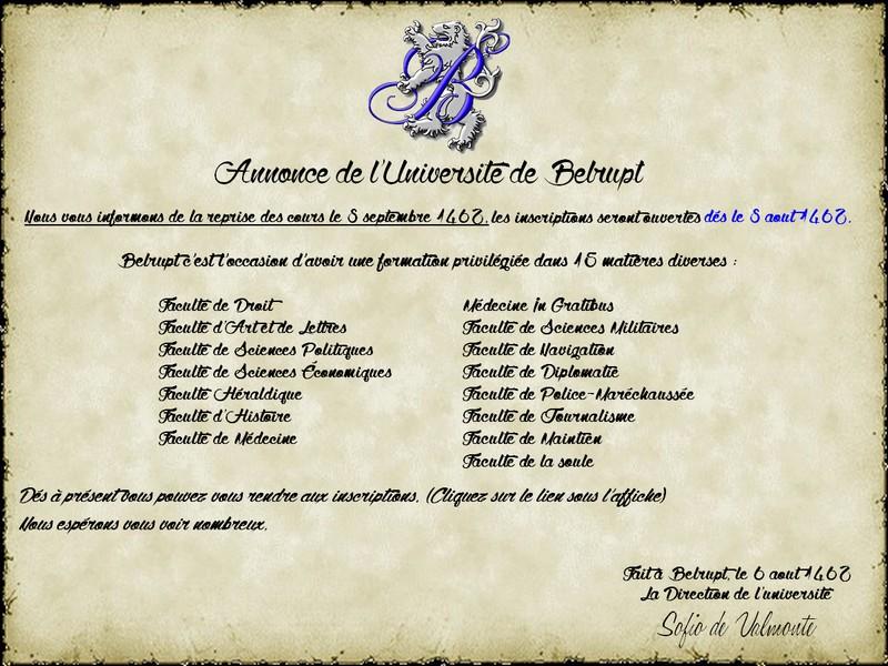Etudes Res Parendo : l'Université de Belrupt 366520coprsannonce3