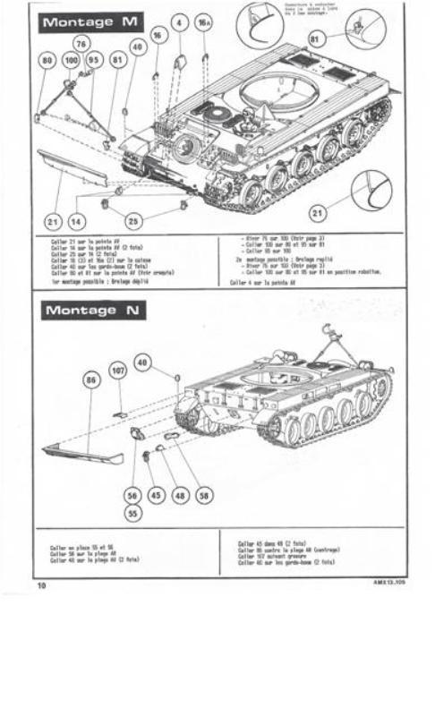 AMX 13 Canon de 105 [ Heller ] 1/35 36791013105010