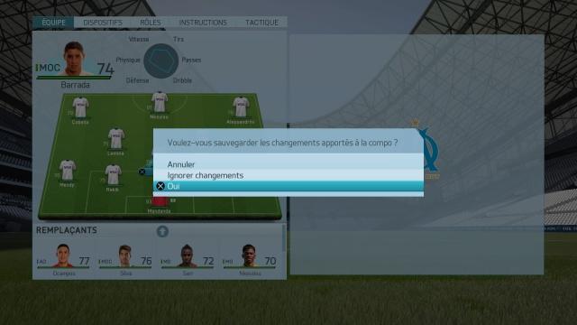 Tutorial FIFA - Sauvegarder sa tactique et composition d'équipe personnalisée. 384262FIFA16danslesmenus1